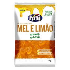Balas de Gelatina Fini Natural Sweets Mel e Limão 18g R$2,90